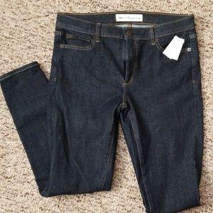 Dark Wash Gap True Skinny Ankle Jeans
